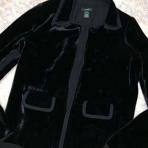 J. Crew silk blend velvet blazer